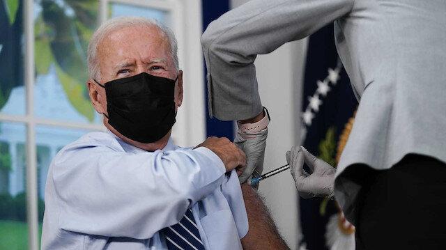 ABD Başkanı Biden canlı yayında üçüncü doz aşısını oldu