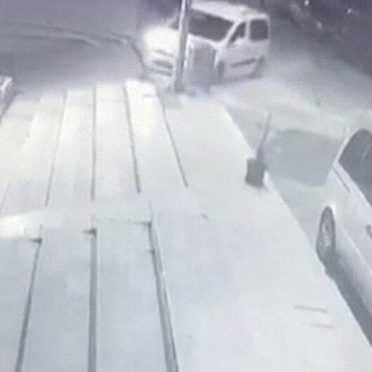 Tekirdağda sürücüsünün direksiyon hakimiyetini kaybettiği araç böyle takla attı