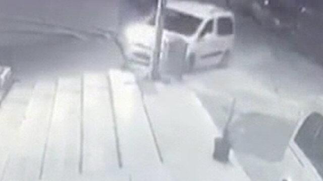 Tekirdağ'da sürücüsünün direksiyon hakimiyetini kaybettiği araç böyle takla attı