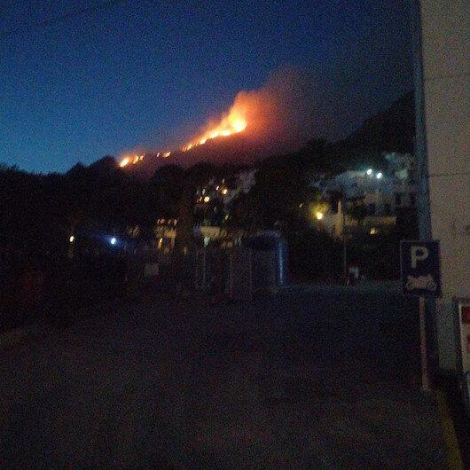 Bodrum'da korkutan yangın: İki hektar alan zarar gördü