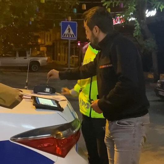 Bursada alkollü sürücü alkolmetreyi pos cihazı zannedip kredi kartıyla ödeme yapmaya çalıştı