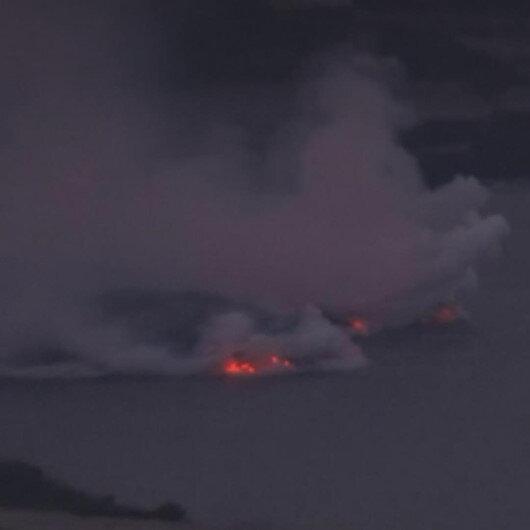 La Palma'daki Cumbre Vieja Yanardağı'ndan çıkan lavlar Atlantik Okyanusu'na ulaştı
