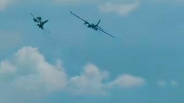 Akıncı Hürkuş ve F-16 kol uçuşunda