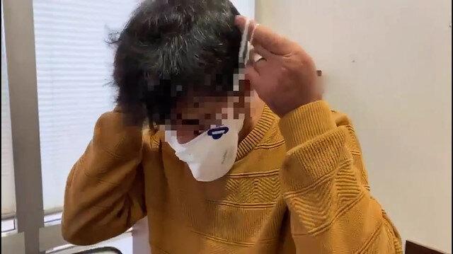 Uyuşturucuyu maskesine gizleyip uçağa binmeye çalıştı