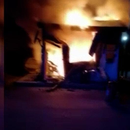 Kayseride işten çıkarılan operatör iş makinesini ateşe verdi