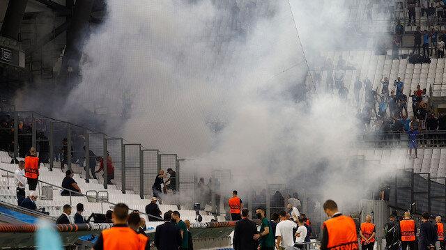 Marsilya-Galatasaray maçı öncesinde provokasyon: Fransız polisi müdahale etti