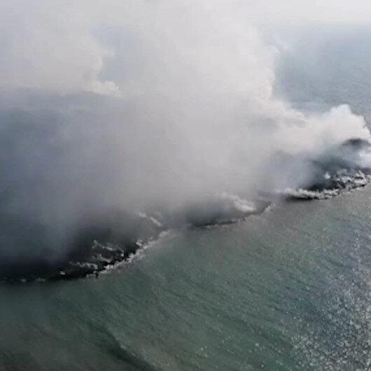 İspanyada denize dökülen lavlar 25 futbol sahasından daha büyük alanı kapladı