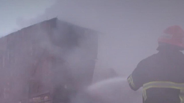 Kütahya'da ahır ve samanlık yandı: 3 küçükbaş hayvan telef oldu