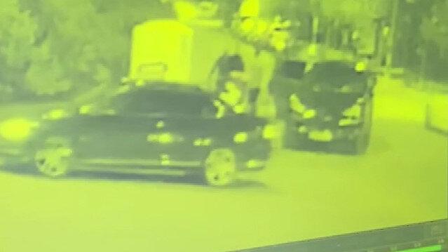 Ataşehir'de 'korna çaldın' dayağı kamerada