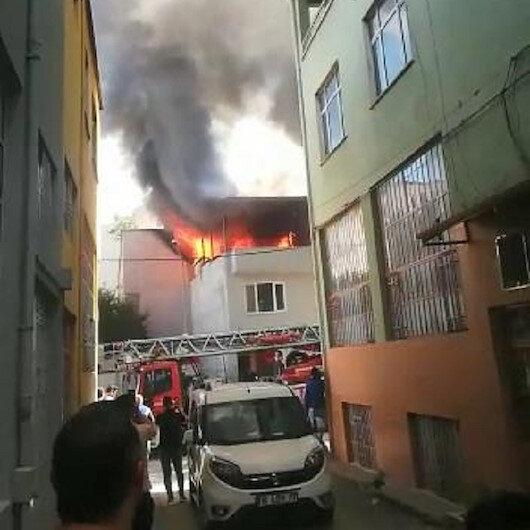 Bursada tekstil atölyesinde yangın