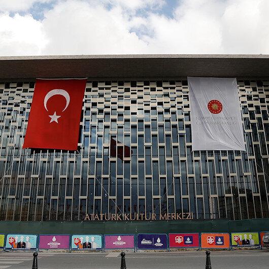Taksimdeki Atatürk Kültür Merkezinin son hali görüntülendi