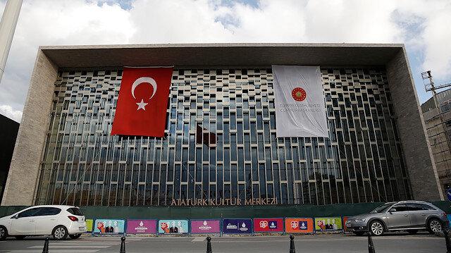 Taksim'deki Atatürk Kültür Merkezi'nin son hali görüntülendi