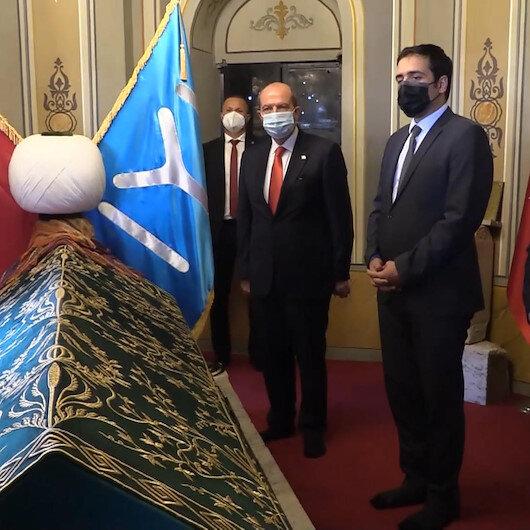 KKTC Cumhurbaşkanı Ersin Tatardan Ertuğrul Gazi Türbesine ziyaret