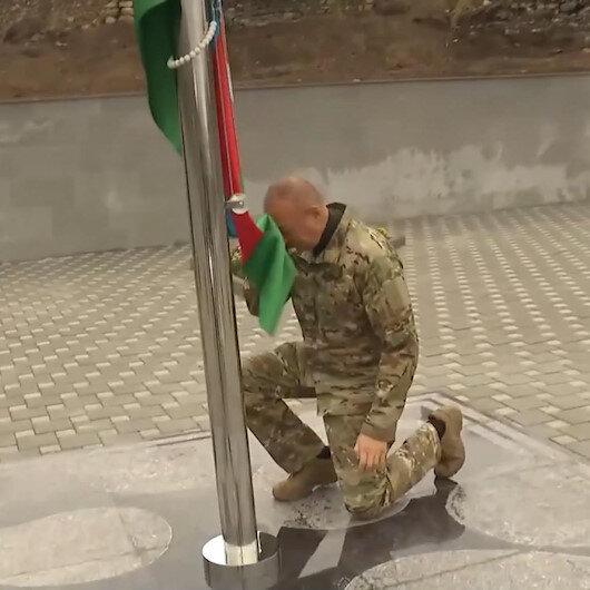 Azerbaycan Cumhurbaşkanı Aliyev kurtuluşunun 1. yılında Cebrayıl şehrini ziyaret etti