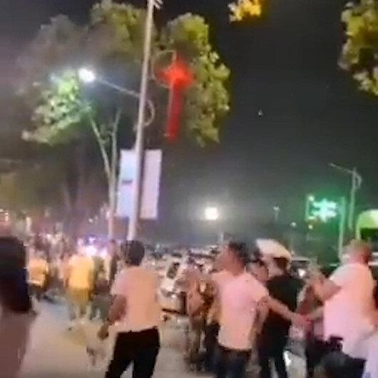 Çinde internet hatlarında aksaklık yaşandı: İHAlar izleyicilerin üzerine düştü