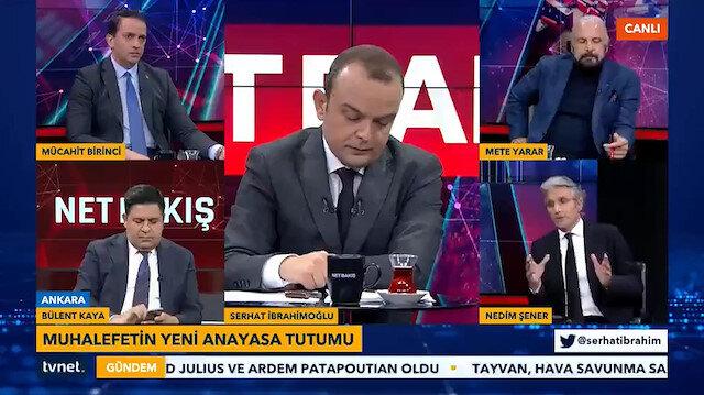 Nedim Şenerden Sorunları HDP ile çözeriz diyen CHPye: Hadi buyurun HDP ile anayasa taslağı hazırlayın