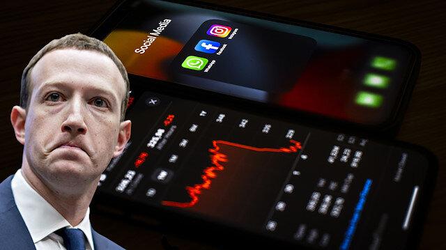 Facebook ile beraber Zuckerberg de 'çöktü'