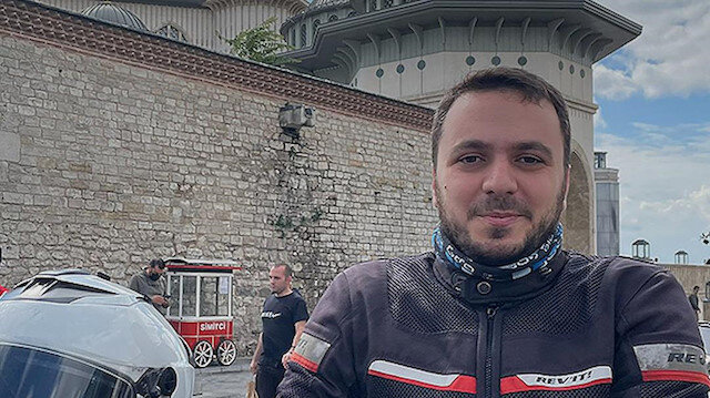 Taksim Camisi'nin imamı Abdullah Özkan motosiklet tutkusuyla ilgi odağı oluyor