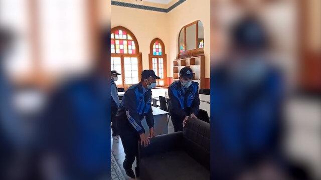 İBB Zabıta ekiplerinden Adalar TÜGVA binasına baskın