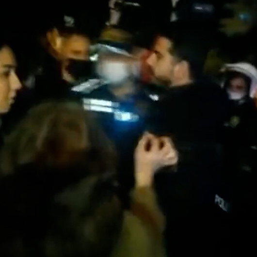 Boğaziçili eylemciler Türk polisine terörist dedi