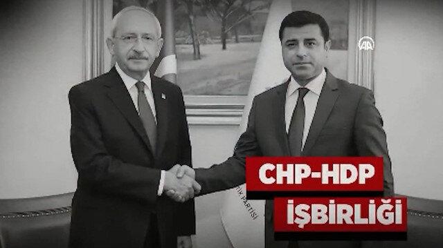 Cumhurbaşkanı Erdoğan CHP-HDP işbirliğini görüntülerle ortaya serdi