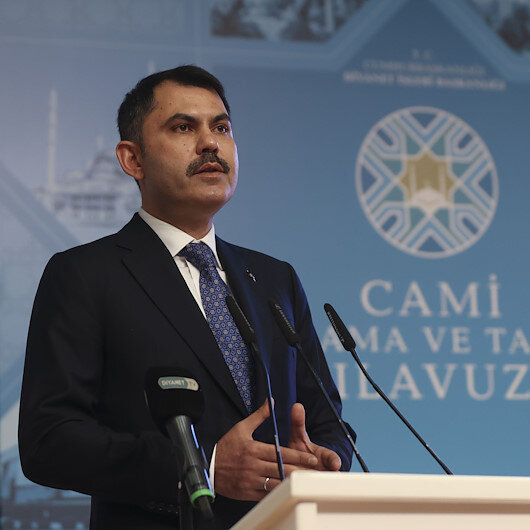 Bakan Kurum: Taksim Camii'nin güçlü Türkiye'nin doğuşunun işaret taşı olduğunu biliyoruz