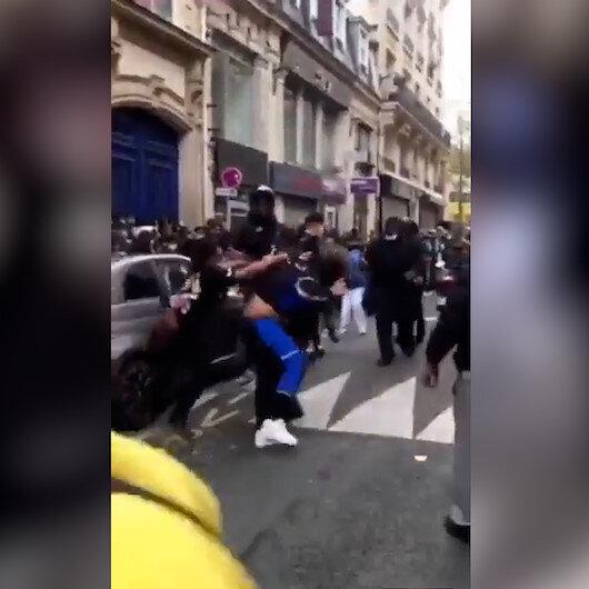 Pariste Squid Game kaosu: Birbirlerine girdiler
