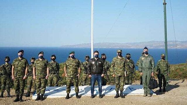 Yunanistan yine tahrik peşinde: Türkiye'nin dibinde tatbikat yapıp İzmir'i arkalarına alarak poz verdiler