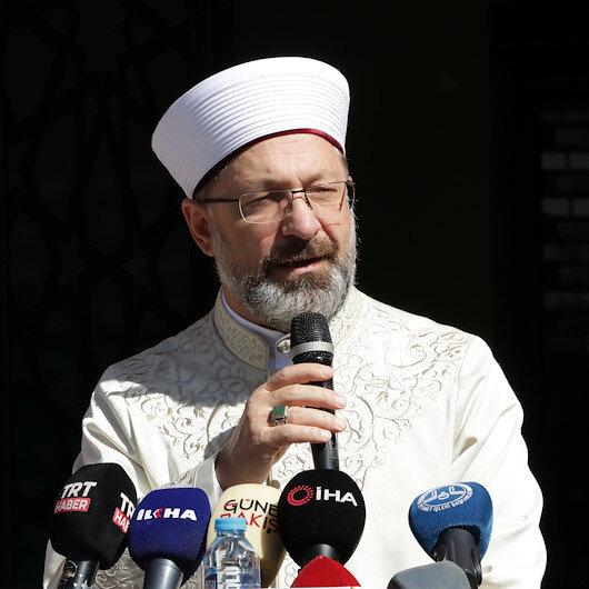 Diyanet İşleri Başkanı Ali Erbaş: Mescid-i Aksa kıyamete kadar İslam mabedi olarak kalacaktır