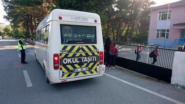 81 ilde eş zamanlı denetim: 135 okul servisi trafikten men edildi