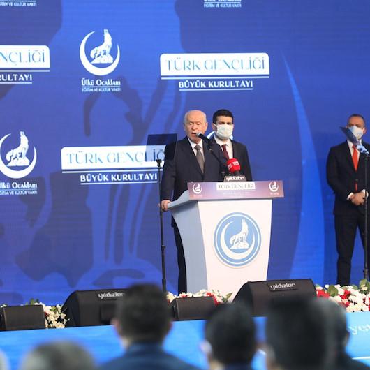 Devlet Bahçeli: Rektörün aracının üzerine çıkan mahlukatın Türk gençliğine mensup olması imkansızdır