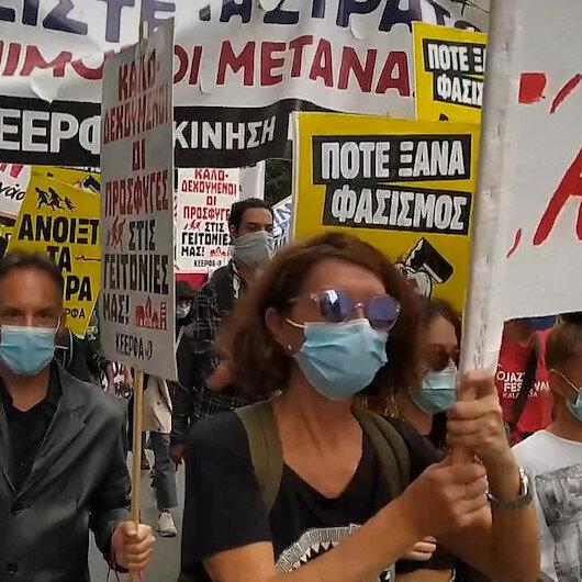 Atinada Yunanistanın göçmen politikası protesto edildi