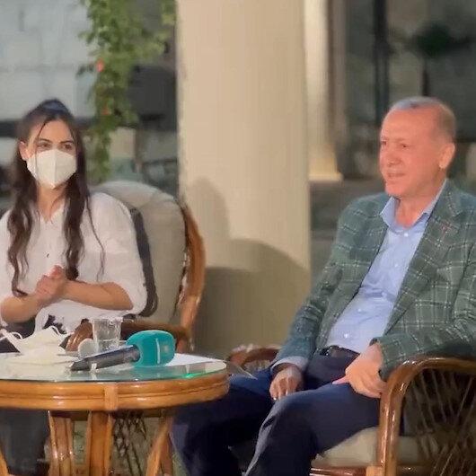 Cumhurbaşkanı Erdoğanın gençlerle türkü gecesi