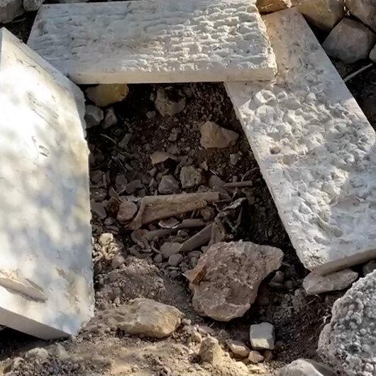 İşgalci İsrail Müslüman mezarlığını tahrip etti