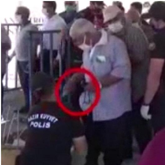 CHP'li Özkan'a görüntülerle yalanlama: İçeri alınmayan yiyecekler çıkışta vatandaşlara geri verildi