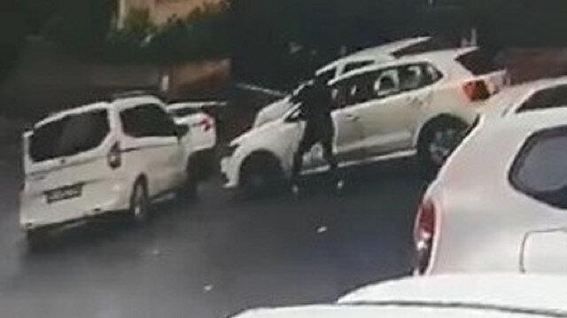 Şişli'de aracıyla önünü kestiği otomobilin sürücüsüne kurşun yağdırdı