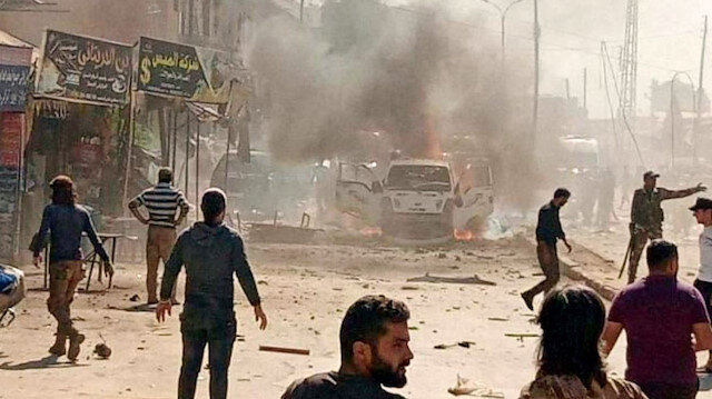 Afrin'de bomba yüklü araçla saldırı: Terör örgütü YPG/PKK yine sivilleri hedef aldı
