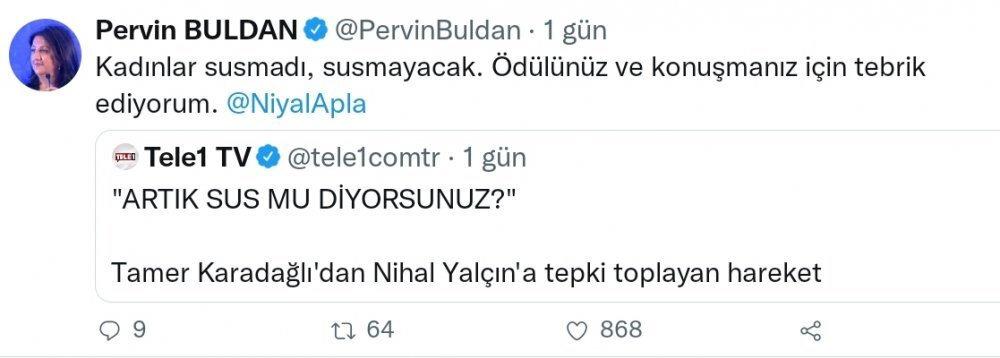 Tamer Karadağlı sessizliğini bozdu: Nihal Yalçın'a HDP sahip çıktı - Yeni Şafak