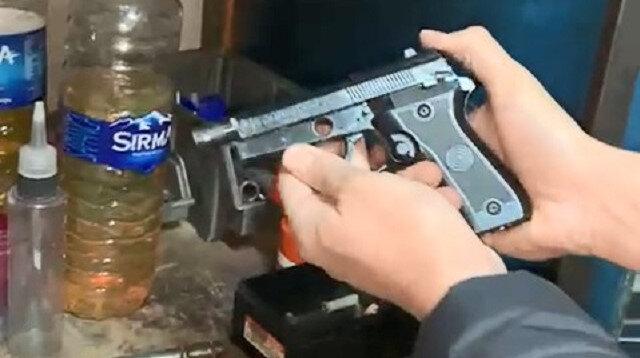 Sarıyer'de silah imalathanesine baskın