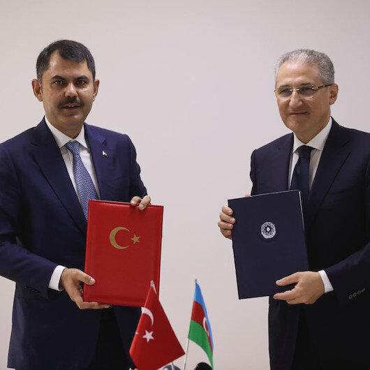 Bakan Kurum Azerbaycan'da: Çevre koruma alanında çalışma programı için imzalar atıldı