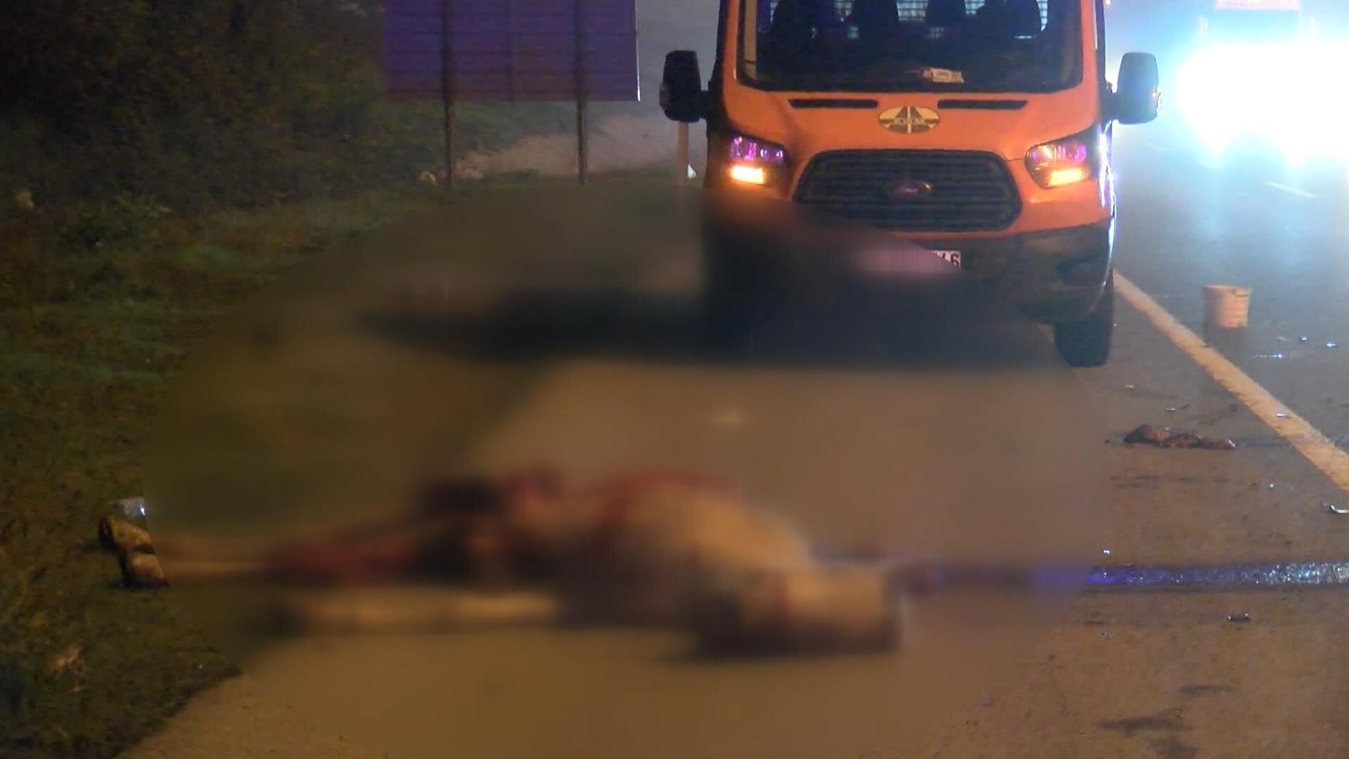 Kazada at ölürken, sürücü ve yolcu hafif şekilde yaralandı.