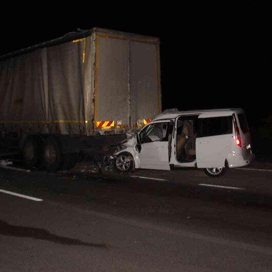 Konya'da dört aracın karıştığı zincirleme kaza: Bir ölü bir yaralı var