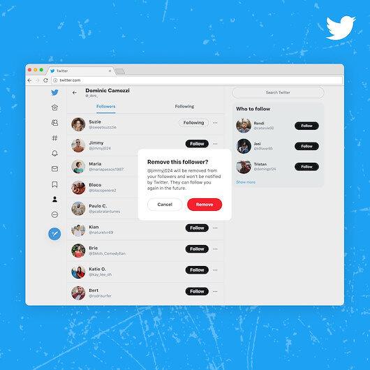 Twitter'ın 'takipçileri engellemeden kaldırma' özelliği kullanıcılara açıldı