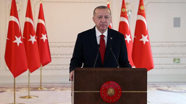 Cumhurbaşkanı Erdoğan'dan küresel iklim krizi ile mücadele mesajı: Herkes elini taşın altına koymalı