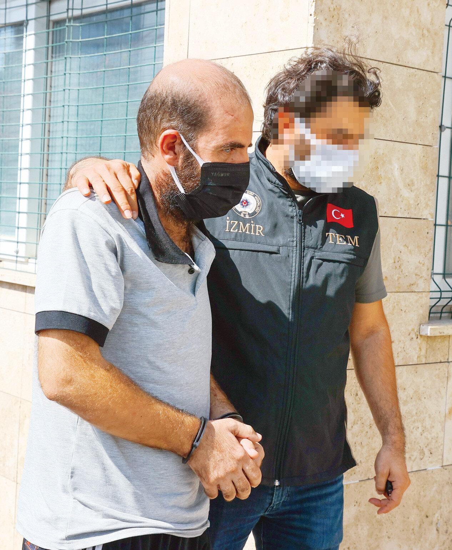 PKK'lı terörist adliyedeki işlemlerinin ardından tutuklandı.