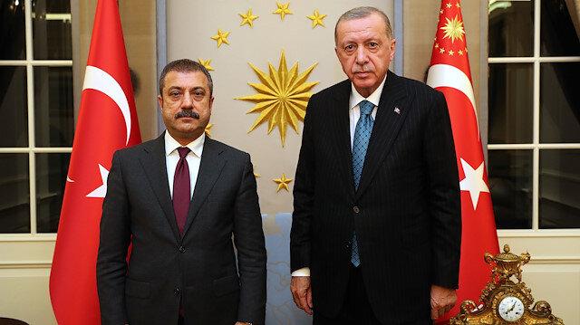 Cumhurbaşkanı Erdoğan Merkez Bankası Başkanı Kavcıoğlu'nu kabul etti