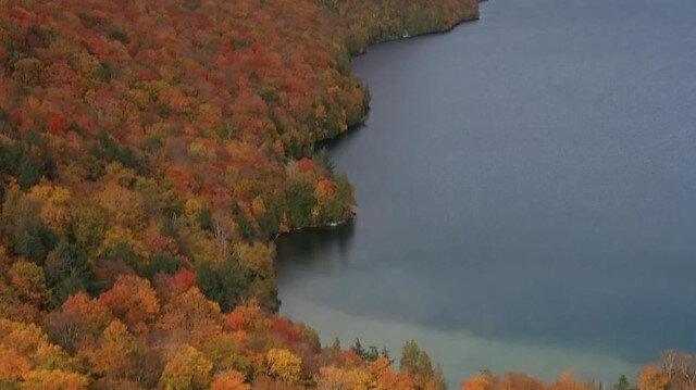 ABD'de ormanlar sonbahar renklerine büründü