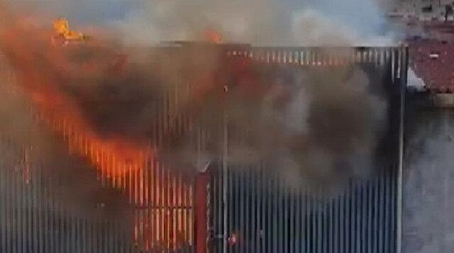 Süleymaniye'de iş yerinde korkutan yangın