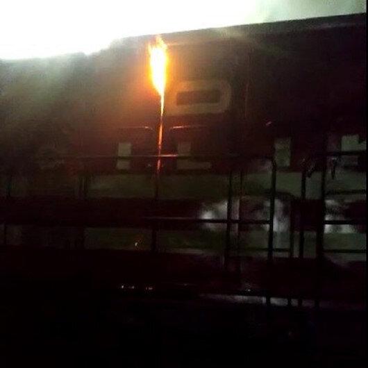 Tokatya yük treninin lokomotifi yandı