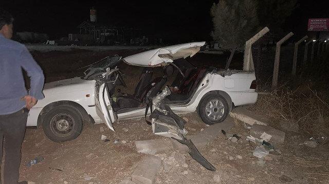 Şanlıurfa'da feci kaza: Aracın tavanı koptu iki kişi hayatını kaybetti